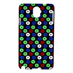 Eye Dots Green Blue Red Samsung Galaxy Note 3 N9005 Hardshell Case