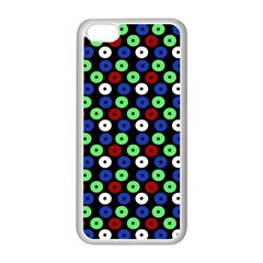 Eye Dots Green Blue Red Apple Iphone 5c Seamless Case (white)