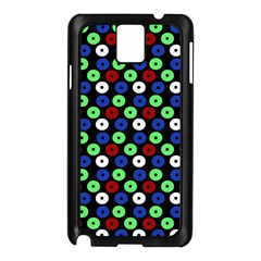 Eye Dots Green Blue Red Samsung Galaxy Note 3 N9005 Case (black)