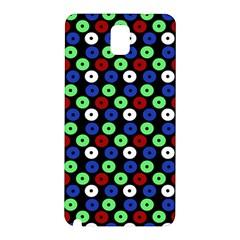 Eye Dots Green Blue Red Samsung Galaxy Note 3 N9005 Hardshell Back Case