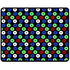 Eye Dots Green Blue Red Double Sided Fleece Blanket (medium)