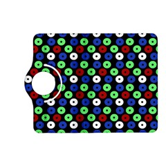 Eye Dots Green Blue Red Kindle Fire Hd (2013) Flip 360 Case