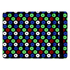 Eye Dots Green Blue Red Samsung Galaxy Tab Pro 12 2  Flip Case