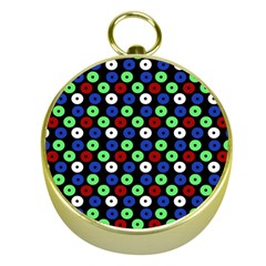 Eye Dots Green Blue Red Gold Compasses