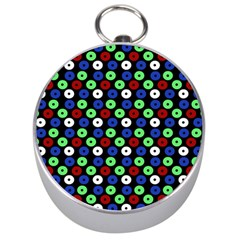 Eye Dots Green Blue Red Silver Compasses