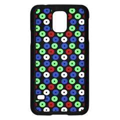Eye Dots Green Blue Red Samsung Galaxy S5 Case (black)