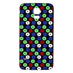 Eye Dots Green Blue Red Samsung Galaxy S5 Back Case (white)
