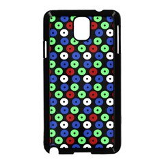 Eye Dots Green Blue Red Samsung Galaxy Note 3 Neo Hardshell Case (black)