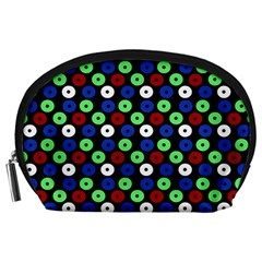 Eye Dots Green Blue Red Accessory Pouches (large)
