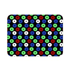 Eye Dots Green Blue Red Double Sided Flano Blanket (mini)