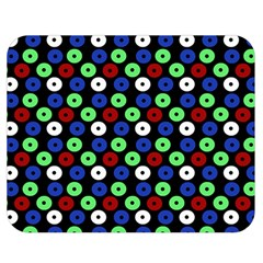 Eye Dots Green Blue Red Double Sided Flano Blanket (medium)