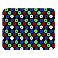 Eye Dots Green Blue Red Double Sided Flano Blanket (large)