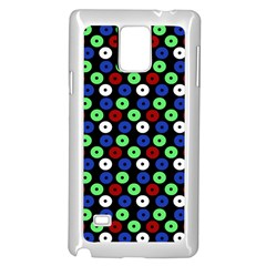Eye Dots Green Blue Red Samsung Galaxy Note 4 Case (white)