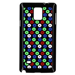 Eye Dots Green Blue Red Samsung Galaxy Note 4 Case (black)