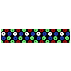 Eye Dots Green Blue Red Small Flano Scarf