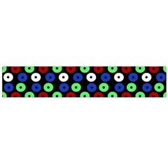 Eye Dots Green Blue Red Large Flano Scarf