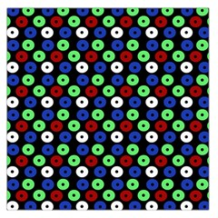 Eye Dots Green Blue Red Large Satin Scarf (square)