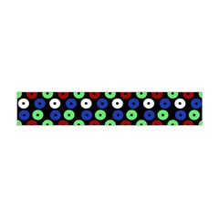 Eye Dots Green Blue Red Flano Scarf (mini)