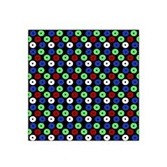 Eye Dots Green Blue Red Satin Bandana Scarf