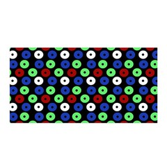 Eye Dots Green Blue Red Satin Wrap