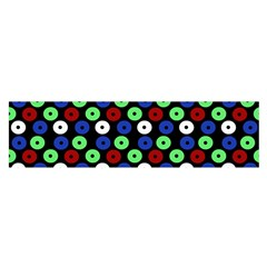 Eye Dots Green Blue Red Satin Scarf (oblong)
