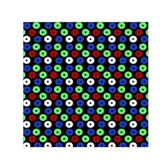 Eye Dots Green Blue Red Small Satin Scarf (square)