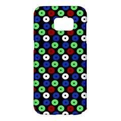 Eye Dots Green Blue Red Samsung Galaxy S7 Edge Hardshell Case