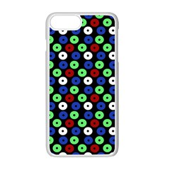 Eye Dots Green Blue Red Apple Iphone 7 Plus Seamless Case (white)