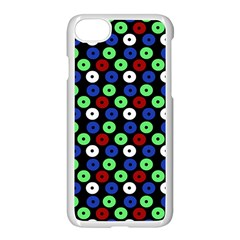 Eye Dots Green Blue Red Apple Iphone 7 Seamless Case (white)
