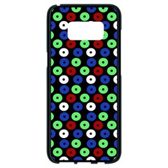 Eye Dots Green Blue Red Samsung Galaxy S8 Black Seamless Case