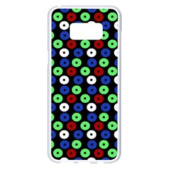 Eye Dots Green Blue Red Samsung Galaxy S8 Plus White Seamless Case