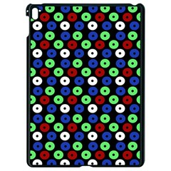 Eye Dots Green Blue Red Apple Ipad Pro 9 7   Black Seamless Case