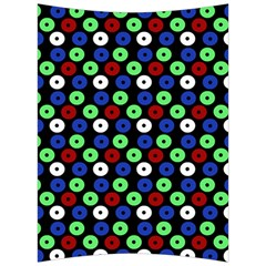 Eye Dots Green Blue Red Back Support Cushion
