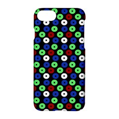 Eye Dots Green Blue Red Apple Iphone 8 Hardshell Case