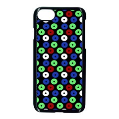Eye Dots Green Blue Red Apple Iphone 8 Seamless Case (black)