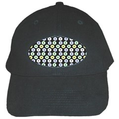 Eye Dots Grey Pastel Black Cap