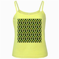 Eye Dots Grey Pastel Yellow Spaghetti Tank