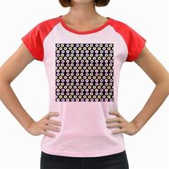 Eye Dots Grey Pastel Women s Cap Sleeve T Shirt