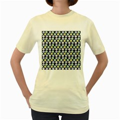 Eye Dots Grey Pastel Women s Yellow T Shirt