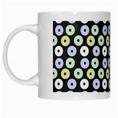 Eye Dots Grey Pastel White Mugs