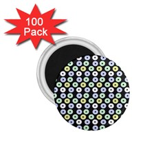Eye Dots Grey Pastel 1 75  Magnets (100 Pack)