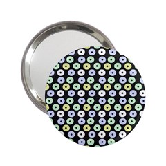 Eye Dots Grey Pastel 2 25  Handbag Mirrors