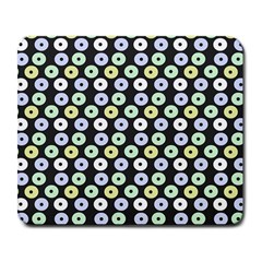Eye Dots Grey Pastel Large Mousepads