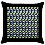 Eye Dots Grey Pastel Throw Pillow Case (Black) Front