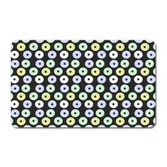 Eye Dots Grey Pastel Magnet (rectangular)