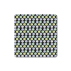 Eye Dots Grey Pastel Square Magnet