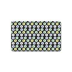 Eye Dots Grey Pastel Magnet (name Card)
