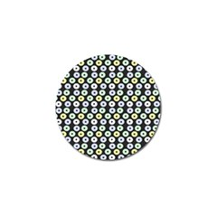 Eye Dots Grey Pastel Golf Ball Marker