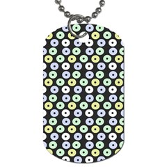 Eye Dots Grey Pastel Dog Tag (two Sides)