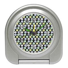 Eye Dots Grey Pastel Travel Alarm Clocks